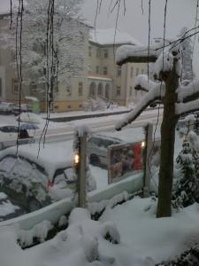 Snowstorm in Austria
