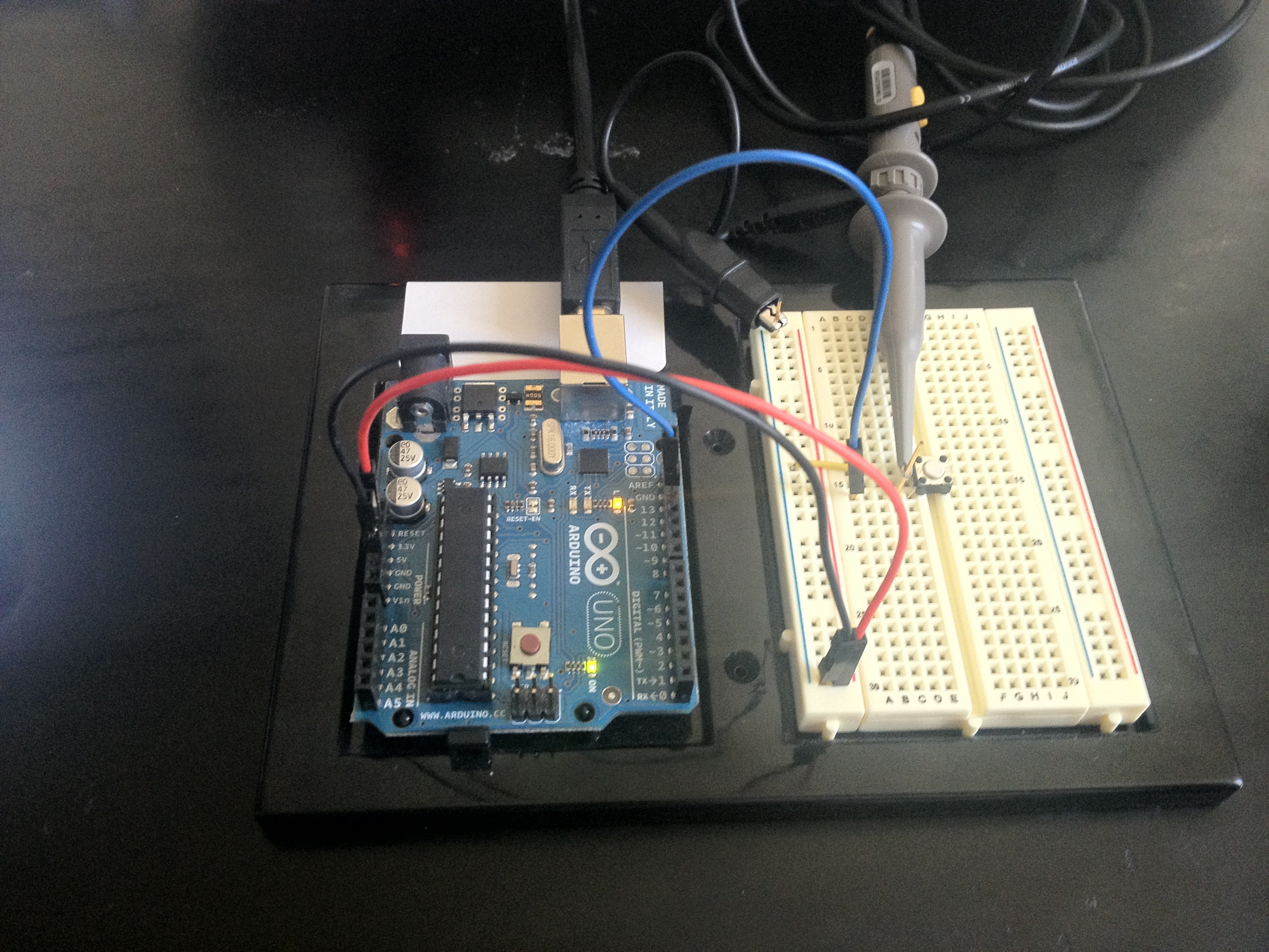 Arduino Internal Pull Up Resistor Tutorial Bald Engineer Circuit Impedance Formula Photodiode Diagram Battery Picture 3 Button Wired With Blue Wire Connects To Pin 12 Of The