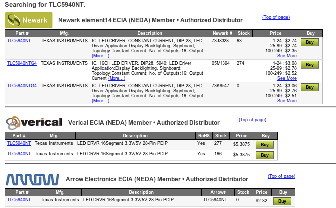 httpwwwfindchipscomavailparttlc5940nt - Inventory Checker
