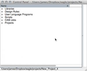 EAGLE Control Panel Window