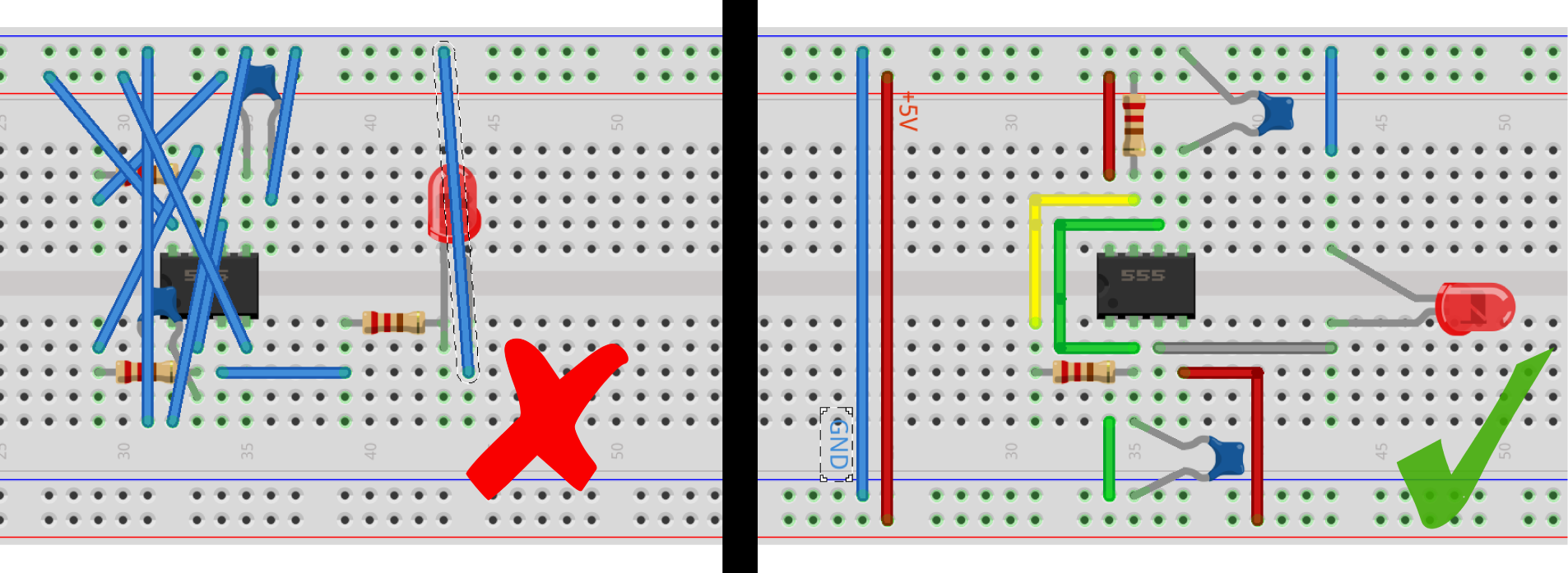 6 Simple Mistakes Electronics Beginners Make Bald Engineer Based Circuits Projects Tutorials Messy Fritzing Diagrams Is An Open Source Software Project Aimed At Making Design Electronic
