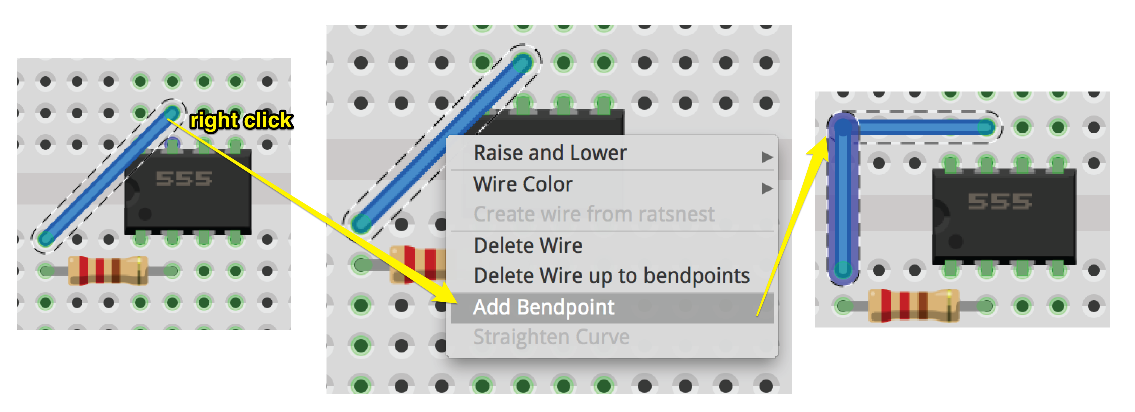 6 Simple Mistakes Electronics Beginners Make Bald Engineer Experiment Leds In A Series Circuit Ii Add Bendpoint On Fritzing Wire