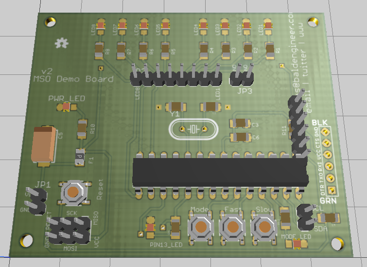 3D Render of MSO Demo Board