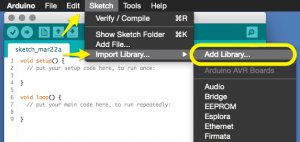 Arduino 1.6.1 IDE - Add Library...