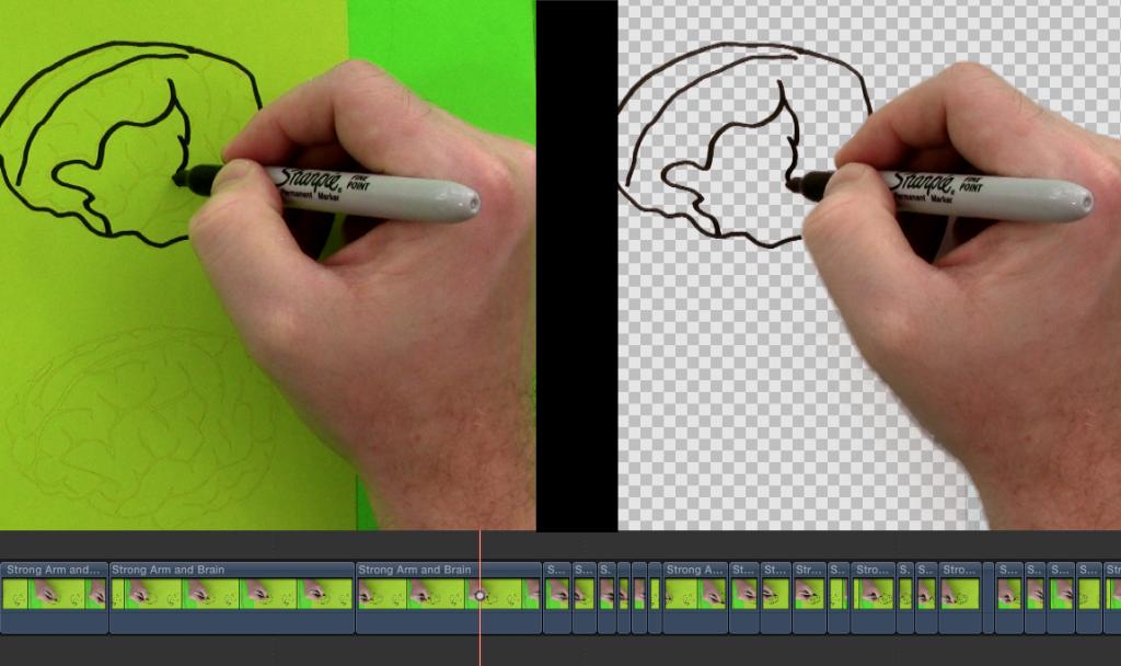 Chroma Keyed Drawing Example
