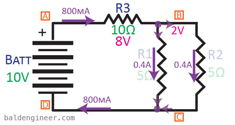 Combination Circuit with Values
