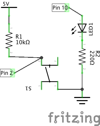 pushbutton and led schematic