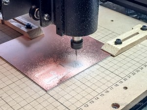 PCB Being Milled with X-Carve