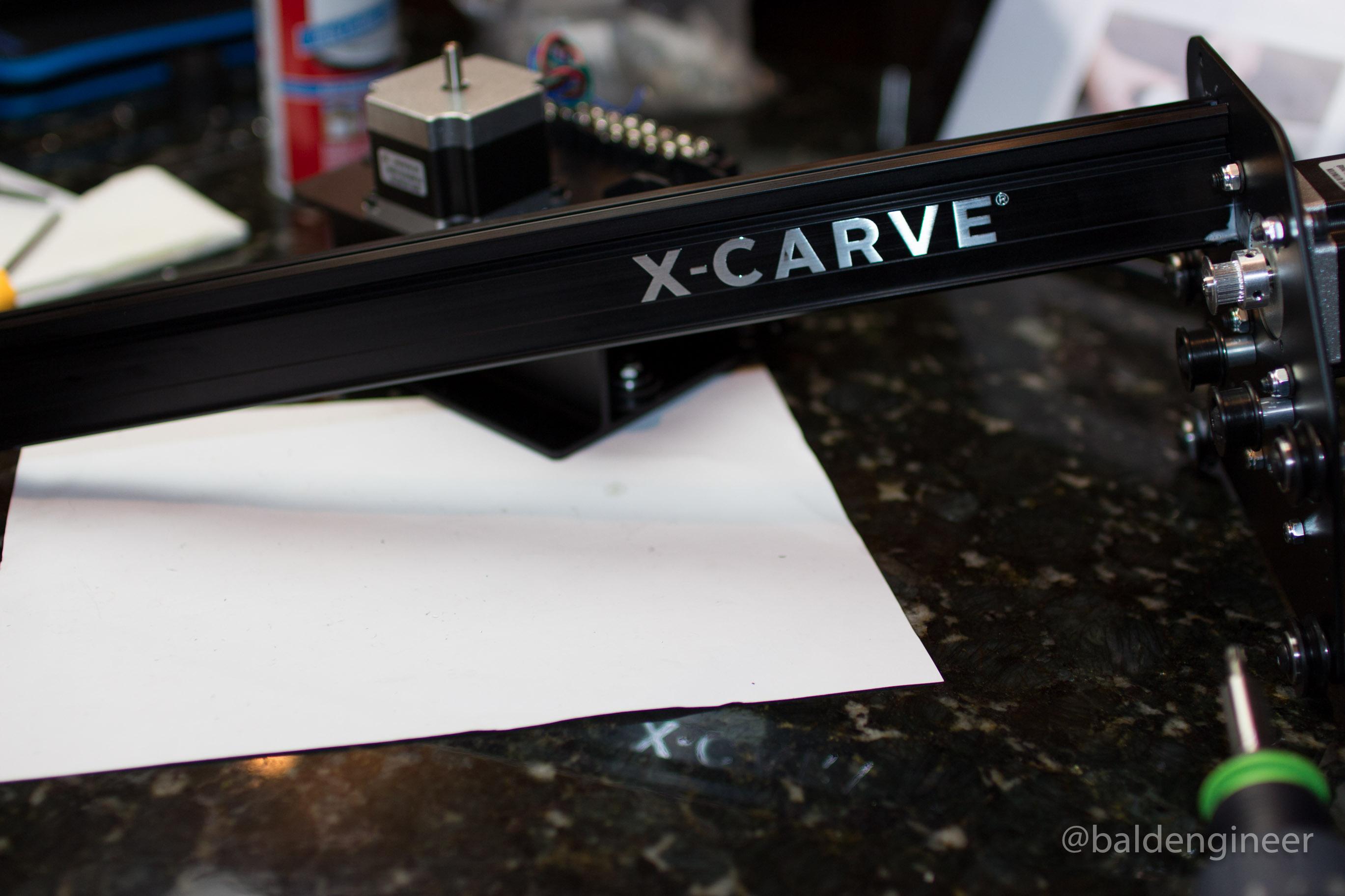 X-Carve Logo on Gantry