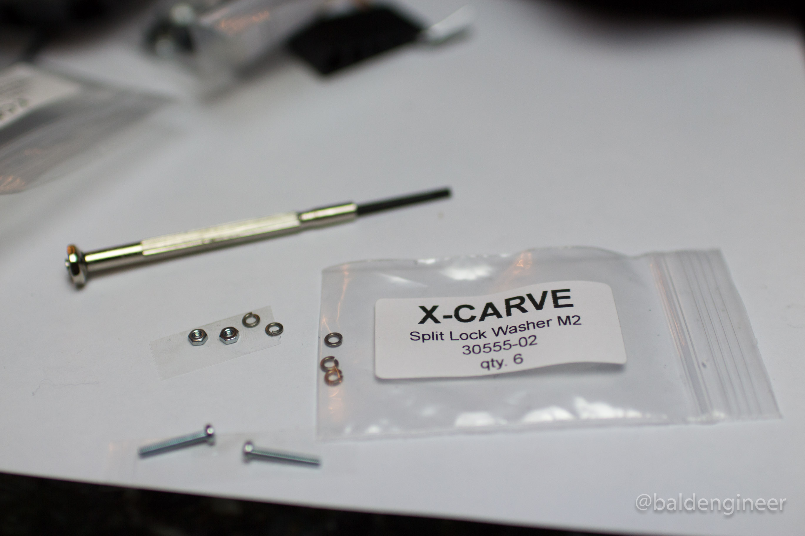 Mini Screws for X-Carve's Limit Switches