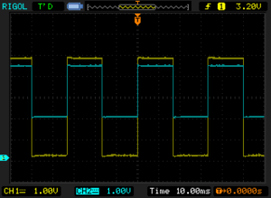LM741 Voltage follower Scope