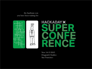 hackaday superconference 2015