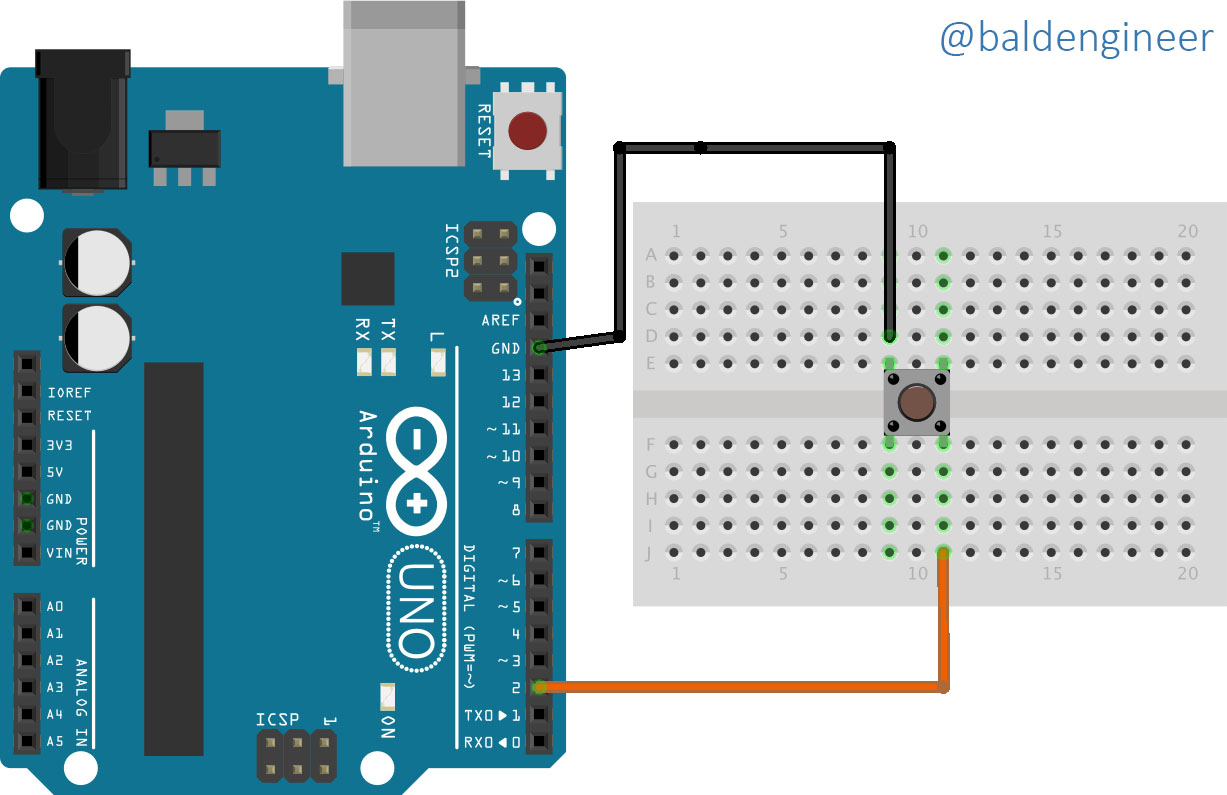 Use Arduino millis() with buttons to delay events - Bald