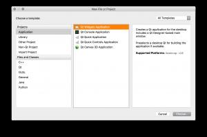 QtCreator New Project Window