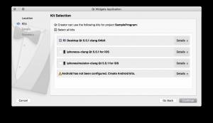 QtCreator Select Kits