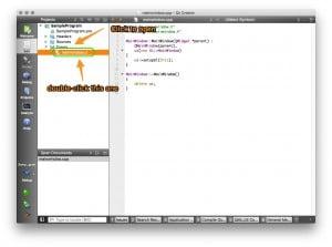 QtCreator Open MainWindow.UI from Code Window