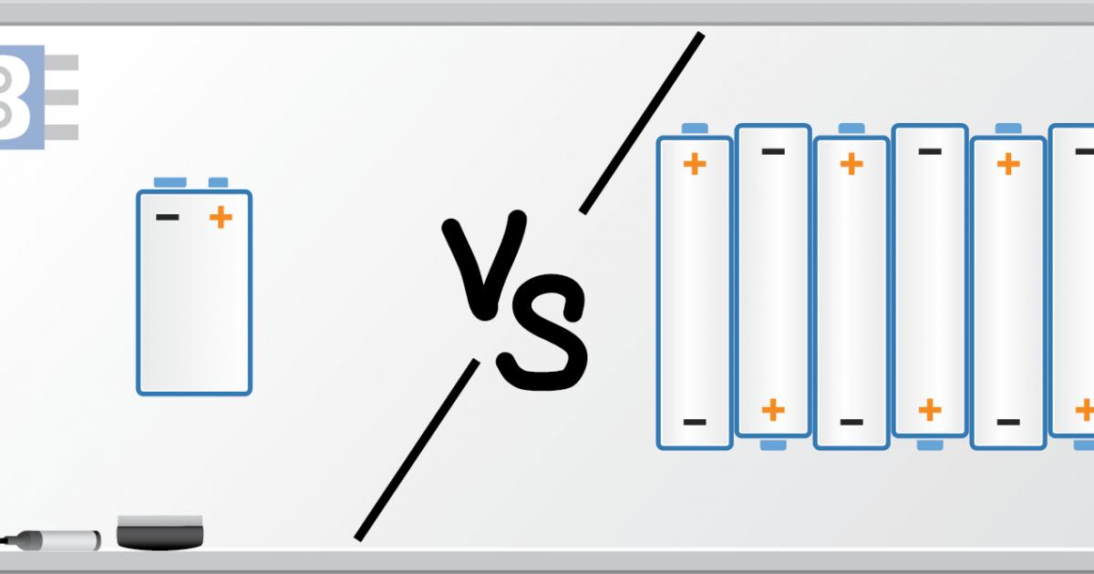 [DHAV_9290]  Energy Density of 9V battery vs. AA batteries - Bald Engineer | Aaa Battery Box Wiring Diagram 4 |  | Bald Engineer