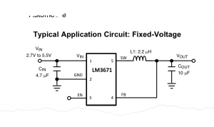 LM3671 Simplified Schematic
