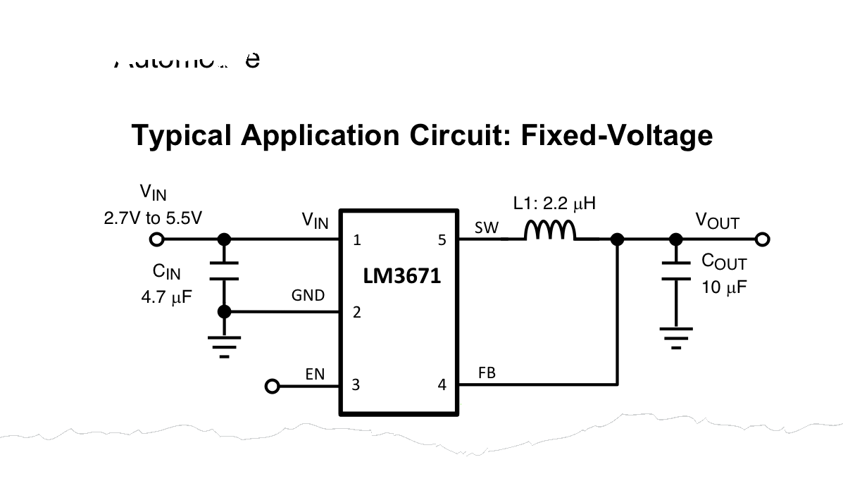 Switching Voltage Regulator Tutorial Bald Engineer Integrated Circuits Circuit Schematic Symbols Lm3671 Simplified