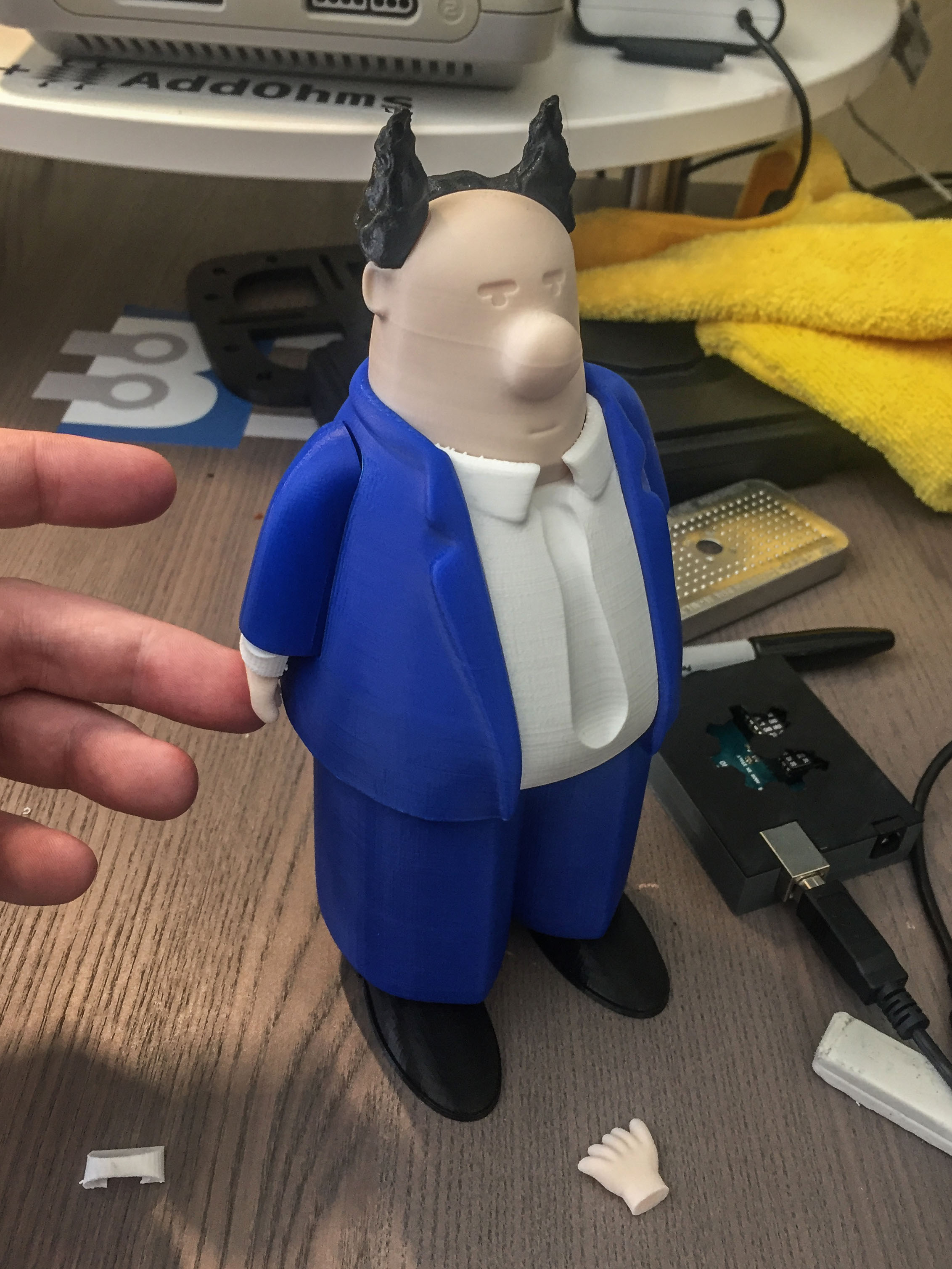 Dilbert Pointy Hair Boss 3d Print