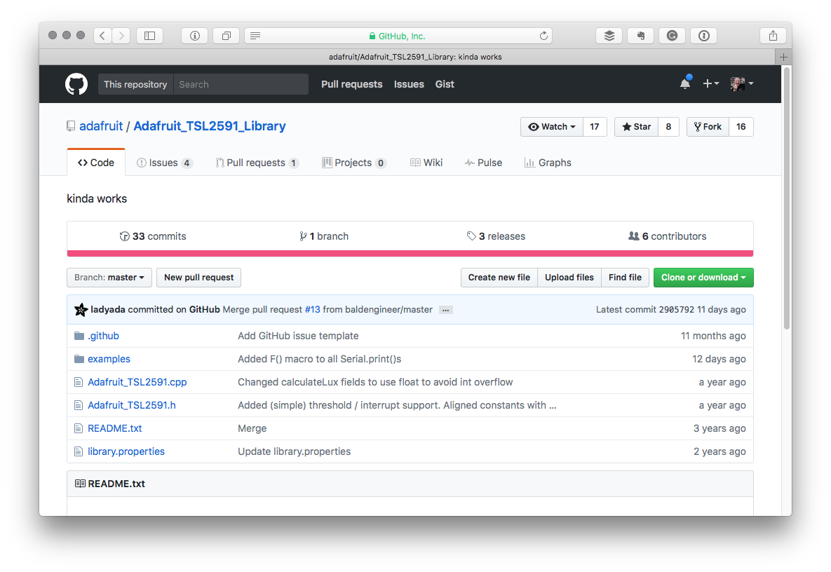 share projects on github