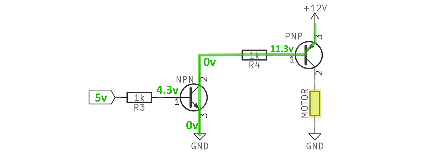 Pwm A 3 Pin Pc Fan With An Arduino Bald Engineer Look At The Voltages In This Highside Switch Configuration Npn Pnp Driver High