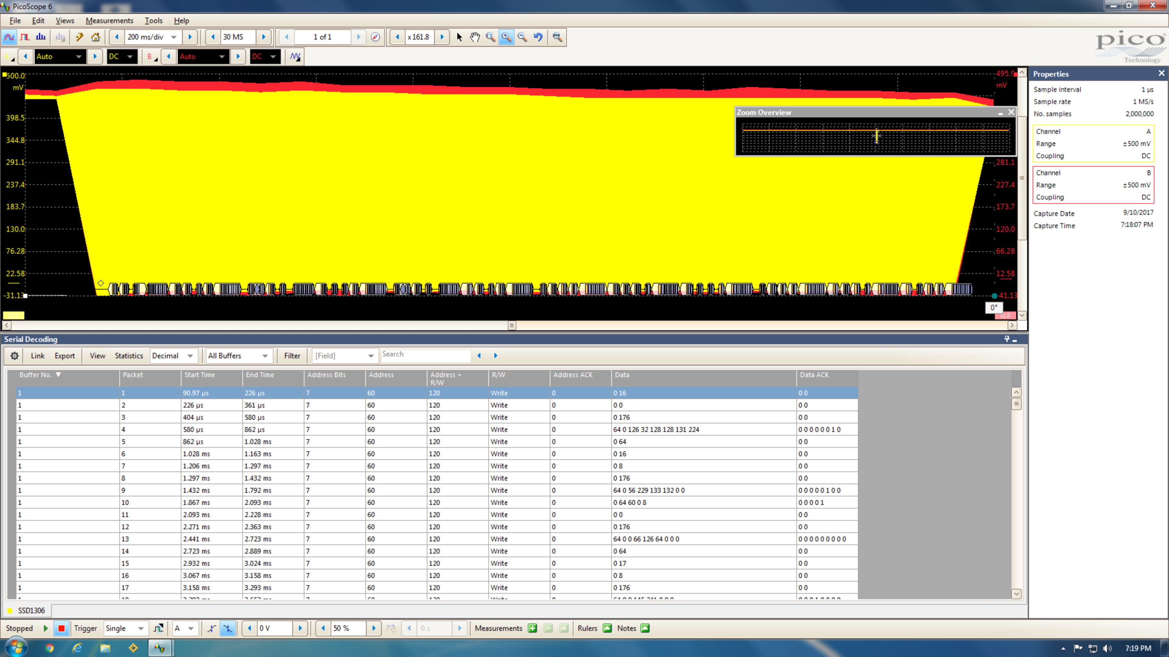Full I2C SSD1306 Hello World Capture