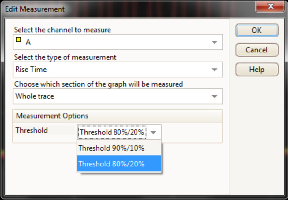 Measurement Thresholds
