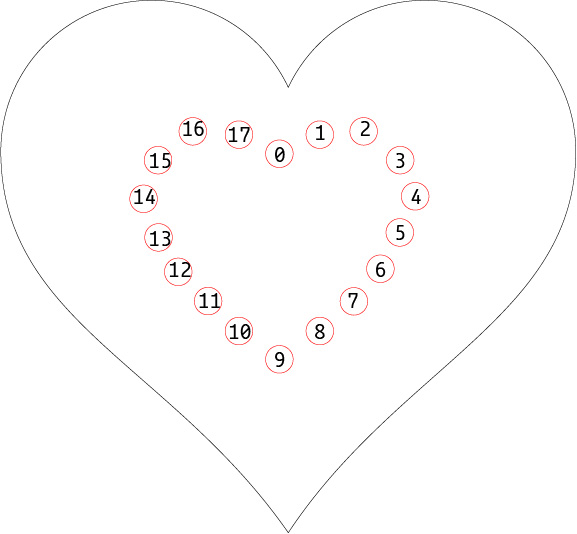 heart matrix numbered