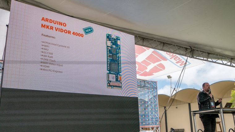 Massimo introducing Arduino MKR Vidor 4000