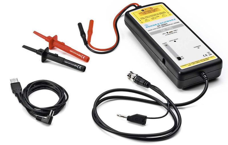 High Voltage Differential Oscilloscope Probe
