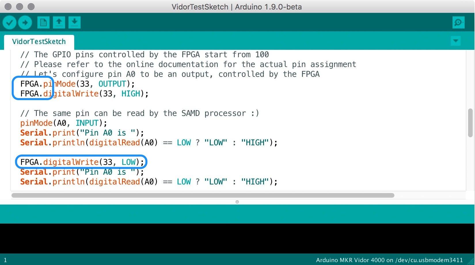 FPGA Pin Toggling