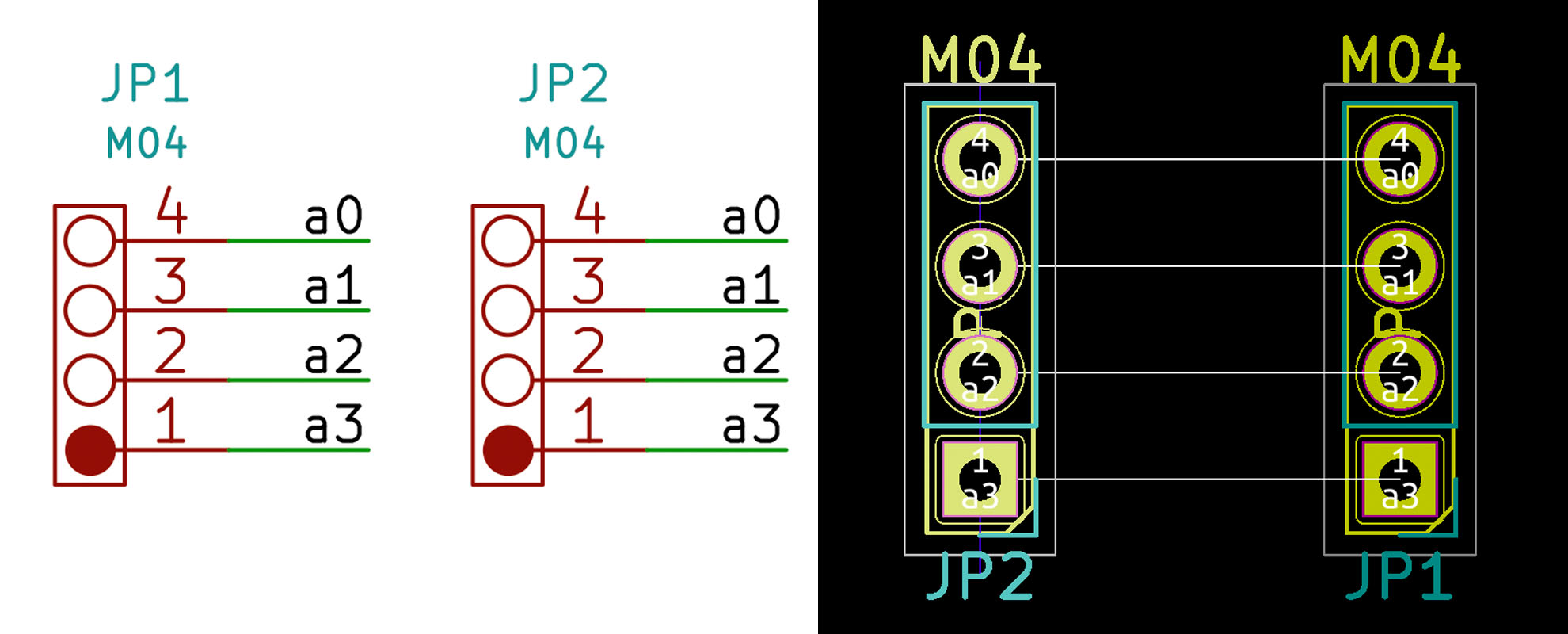01-KiCad Labels connect Wires