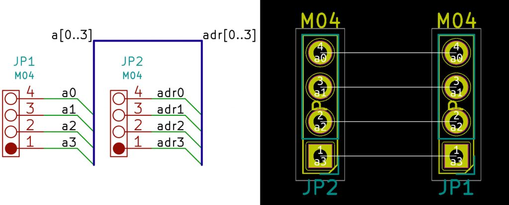 KiCad Mixed Bus Names