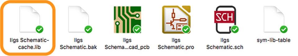 KiCad Schematic Symbol Cache Example