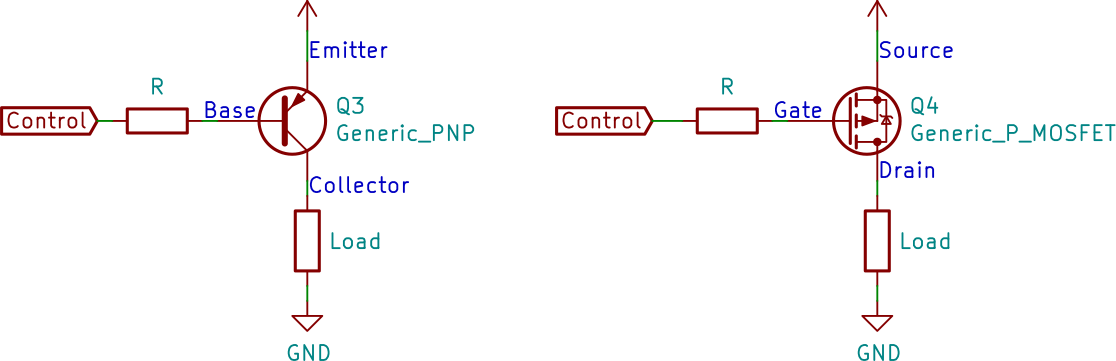 High Side Transistor Switches