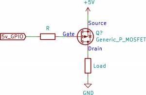 P-Channel with series gate resistor