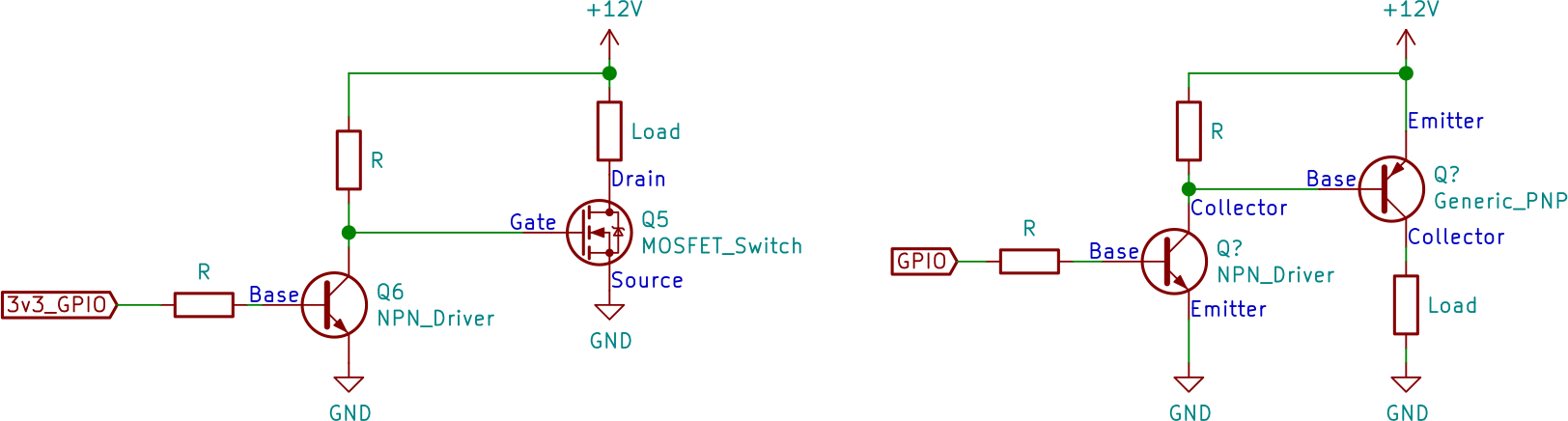 Transistor Driver Examples