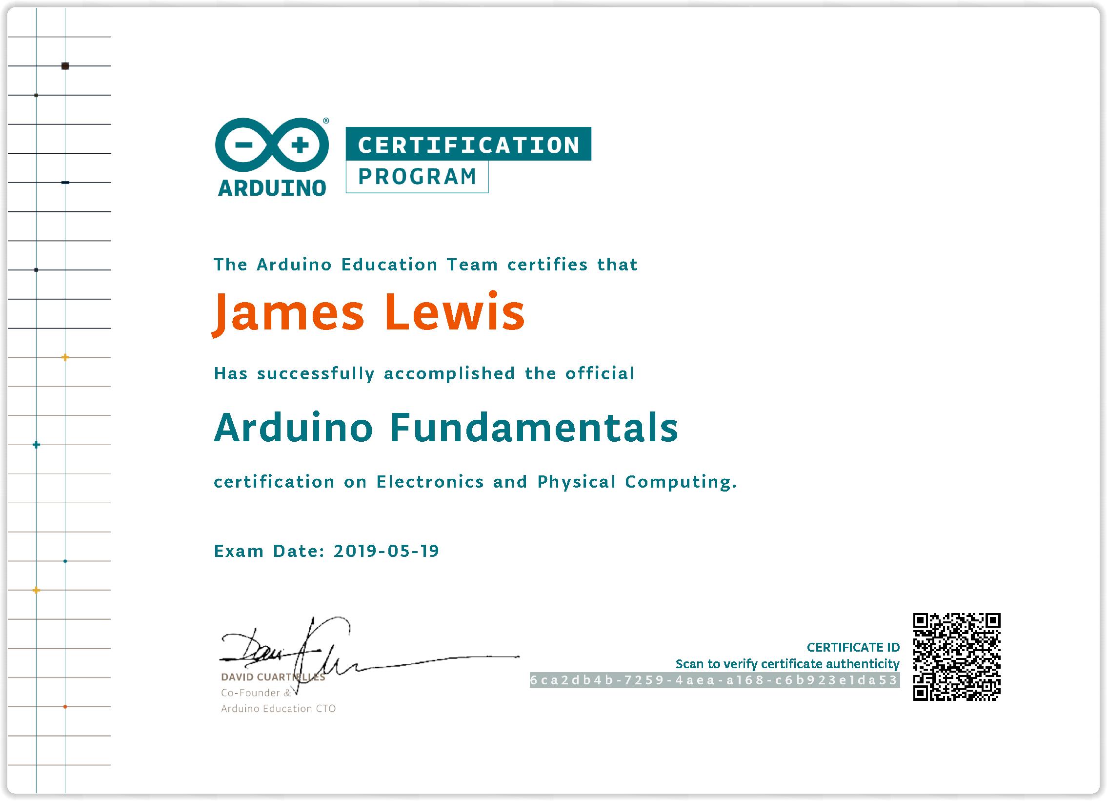Bald Engineer's Arduino Fundamentals Certification
