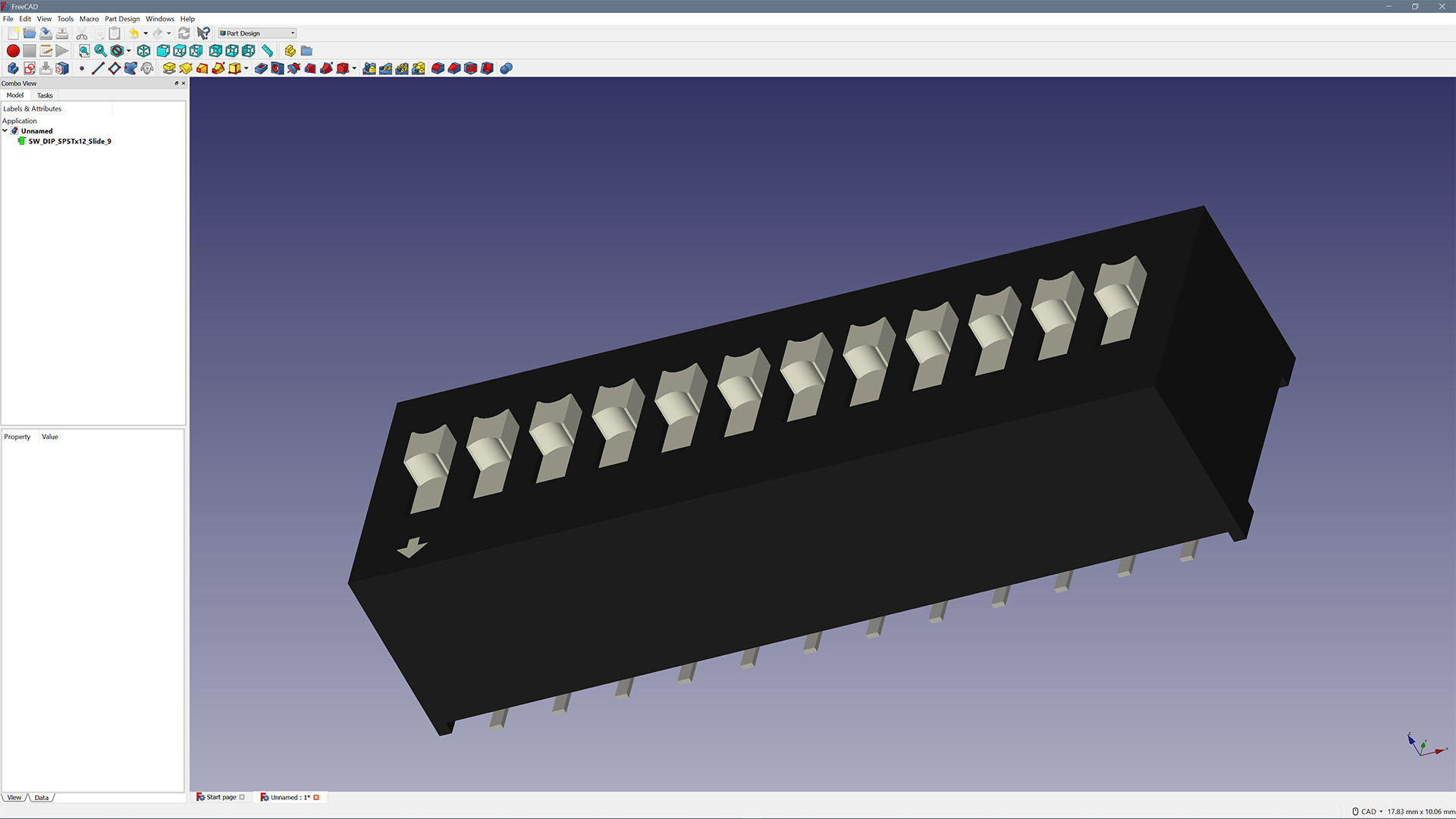 FreeCAD with Dipswitch