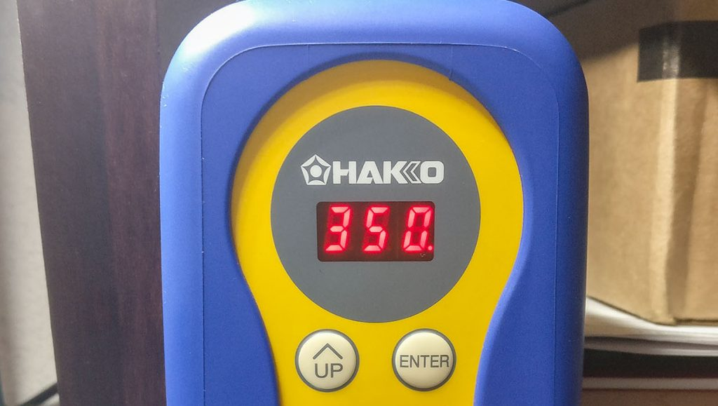Hakko FX888D Front Panel at 350C