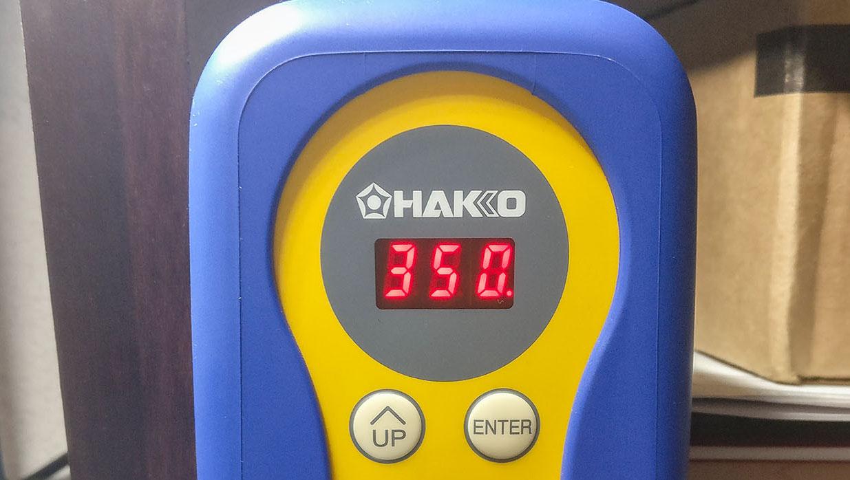 Hakko FX888D Front Panel at 350C
