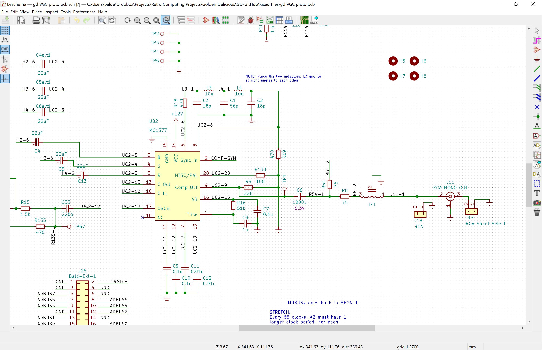 mc1377 based composite/sync circuit